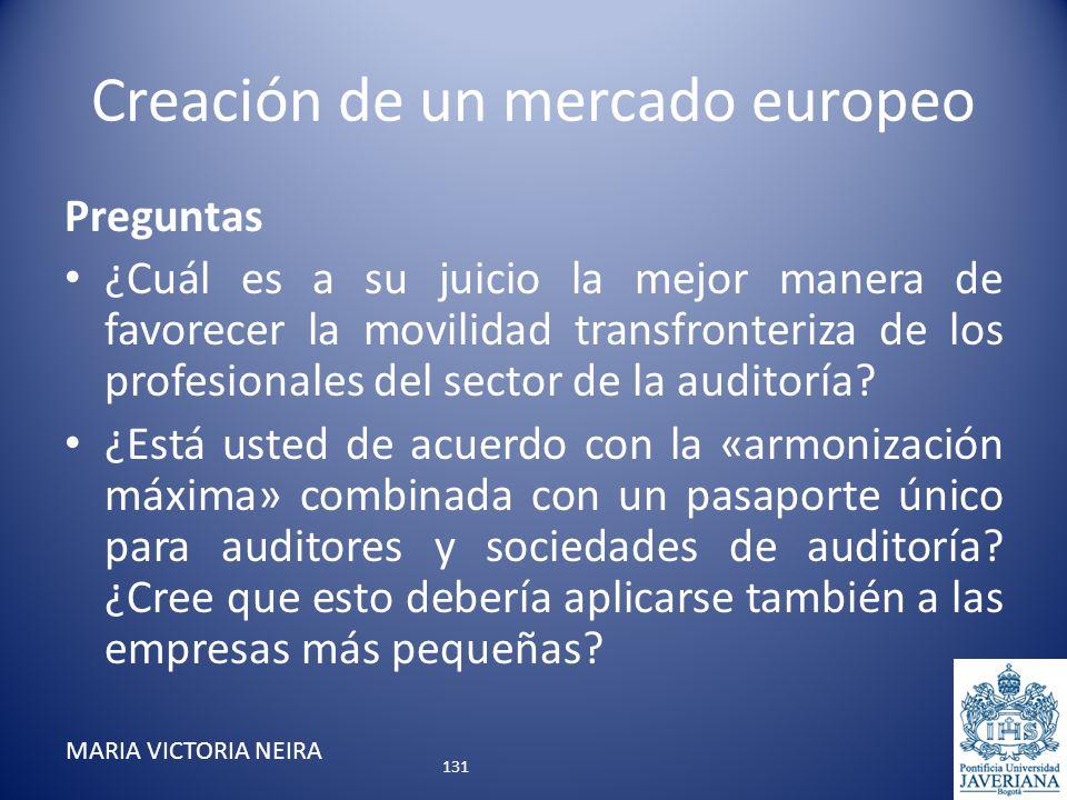 Creación de un mercado europeo Preguntas ¿Cuál es a su juicio la mejor manera de favorecer la movilidad transfronteriza de los profesionales del secto