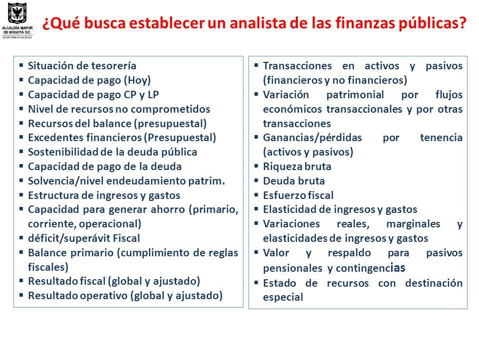 ¿Qué busca establecer un analista de las finanzas públicas.