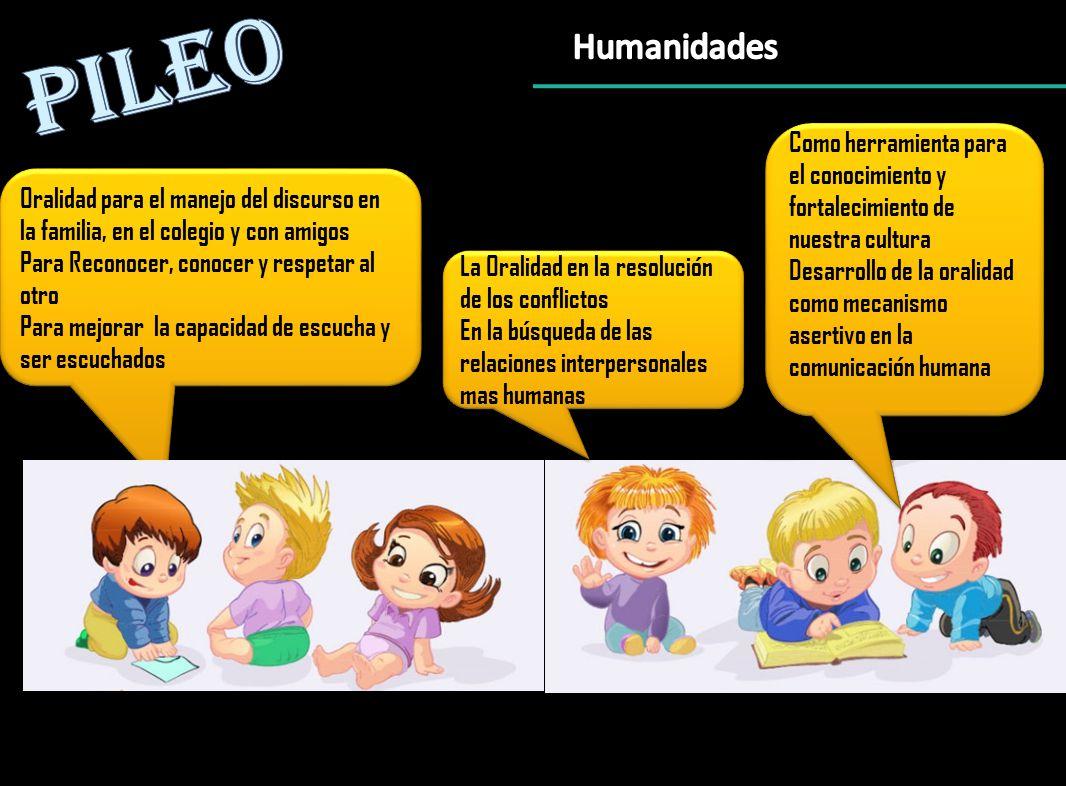 Oralidad para el manejo del discurso en la familia, en el colegio y con amigos Para Reconocer, conocer y respetar al otro Para mejorar la capacidad de escucha y ser escuchados Oralidad para el manejo del discurso en la familia, en el colegio y con amigos Para Reconocer, conocer y respetar al otro Para mejorar la capacidad de escucha y ser escuchados Como herramienta para el conocimiento y fortalecimiento de nuestra cultura Desarrollo de la oralidad como mecanismo asertivo en la comunicación humana Como herramienta para el conocimiento y fortalecimiento de nuestra cultura Desarrollo de la oralidad como mecanismo asertivo en la comunicación humana La Oralidad en la resolución de los conflictos En la búsqueda de las relaciones interpersonales mas humanas La Oralidad en la resolución de los conflictos En la búsqueda de las relaciones interpersonales mas humanas