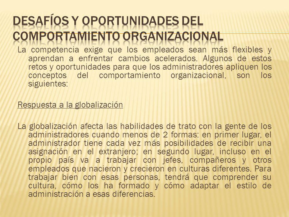 Manejo de la diversidad laboral El reto para las organizaciones es dar mejor cabida a los diversos grupos de personas ocupándose de sus esquemas de vida, necesidades familiares y estilos de trabajo.
