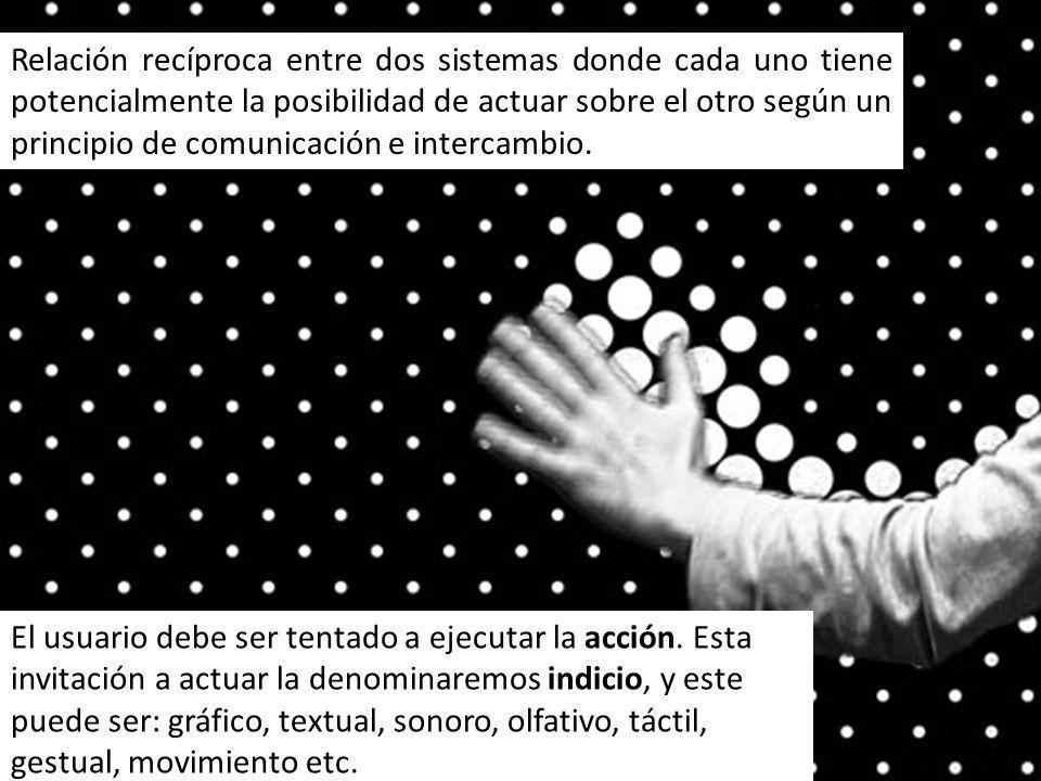 Relación recíproca entre dos sistemas donde cada uno tiene potencialmente la posibilidad de actuar sobre el otro según un principio de comunicación e