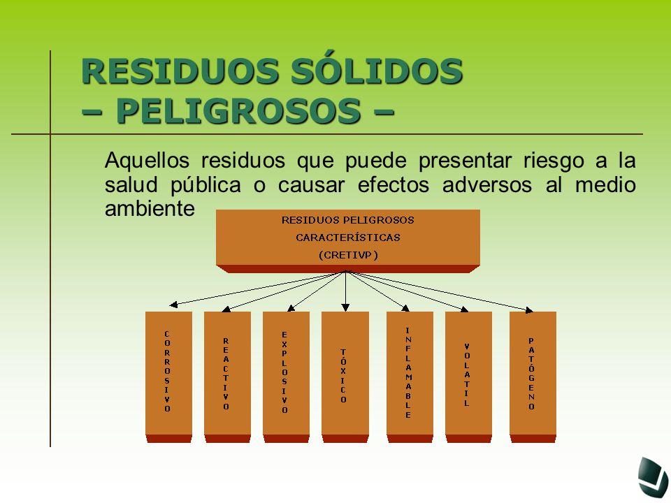 MANEJO INTEGRAL DE RESIDUOSS Ó LIDOS MANEJO INTEGRAL DE RESIDUOS S Ó LIDOS GENERACIÓN SEGREGACIÓN MOVIMIENTO INTERNO ALMACENAMIENTO DESACTIVACIÓN RECOLECCIÓN TRANSPORTE TRATAMIENTO DISPOSICIÓN FINAL