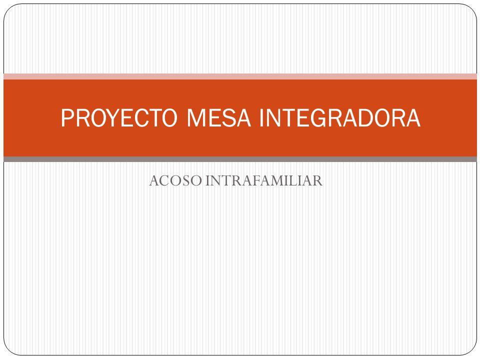 ACOSO INTRAFAMILIAR PROYECTO MESA INTEGRADORA