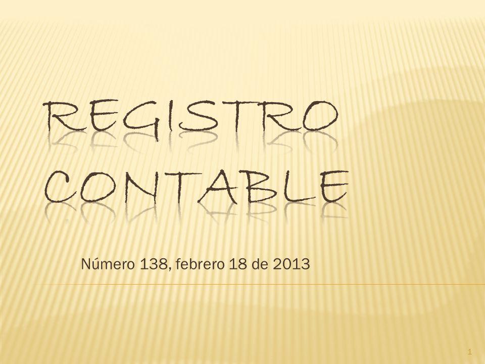 Número 138, febrero 18 de 2013 1
