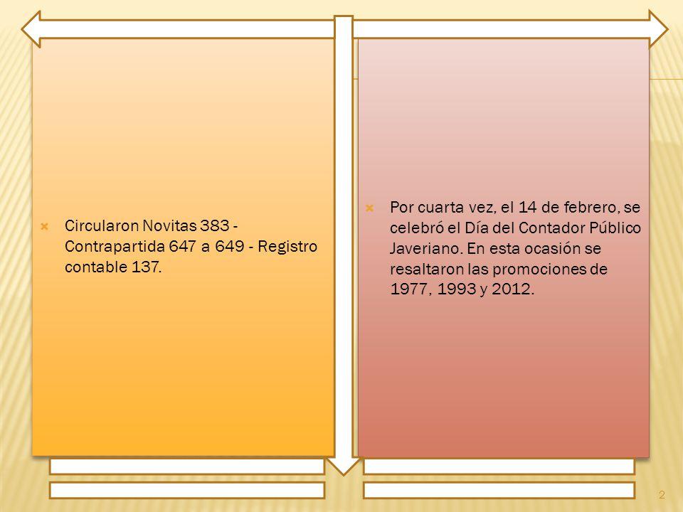 Circularon Novitas 383 - Contrapartida 647 a 649 - Registro contable 137.