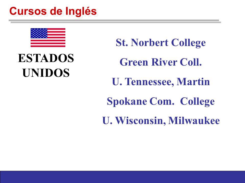 Cursos de Inglés St. Norbert College Green River Coll.