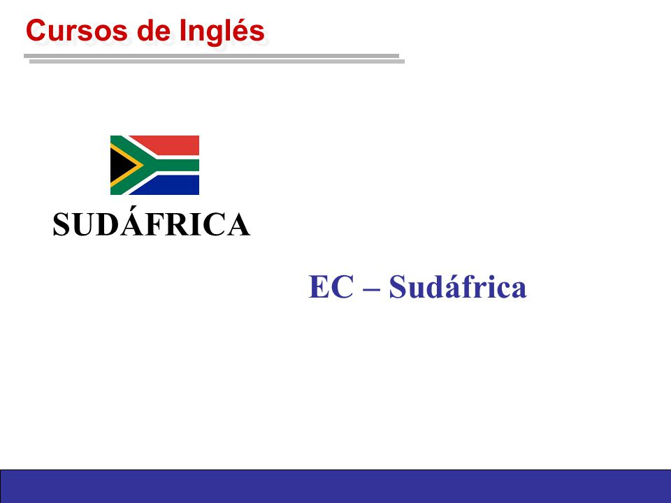 Cursos de Inglés SUDÁFRICA EC – Sudáfrica