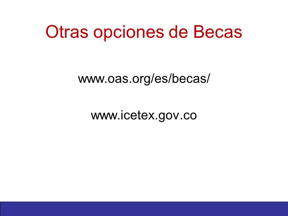 Otras opciones de Becas www.oas.org/es/becas/ www.icetex.gov.co