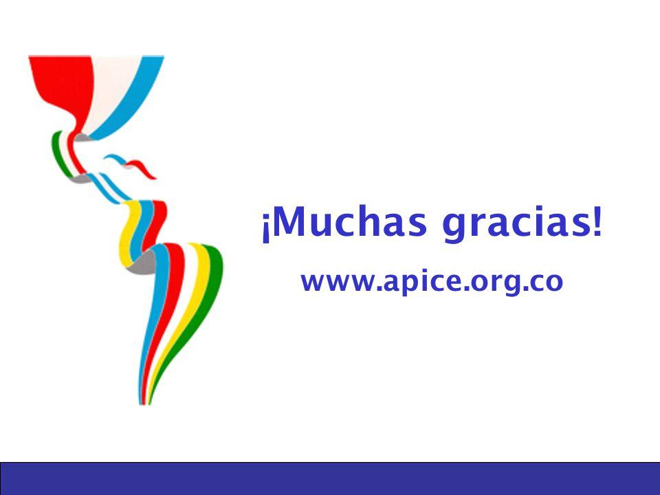 ¡Muchas gracias! www.apice.org.co