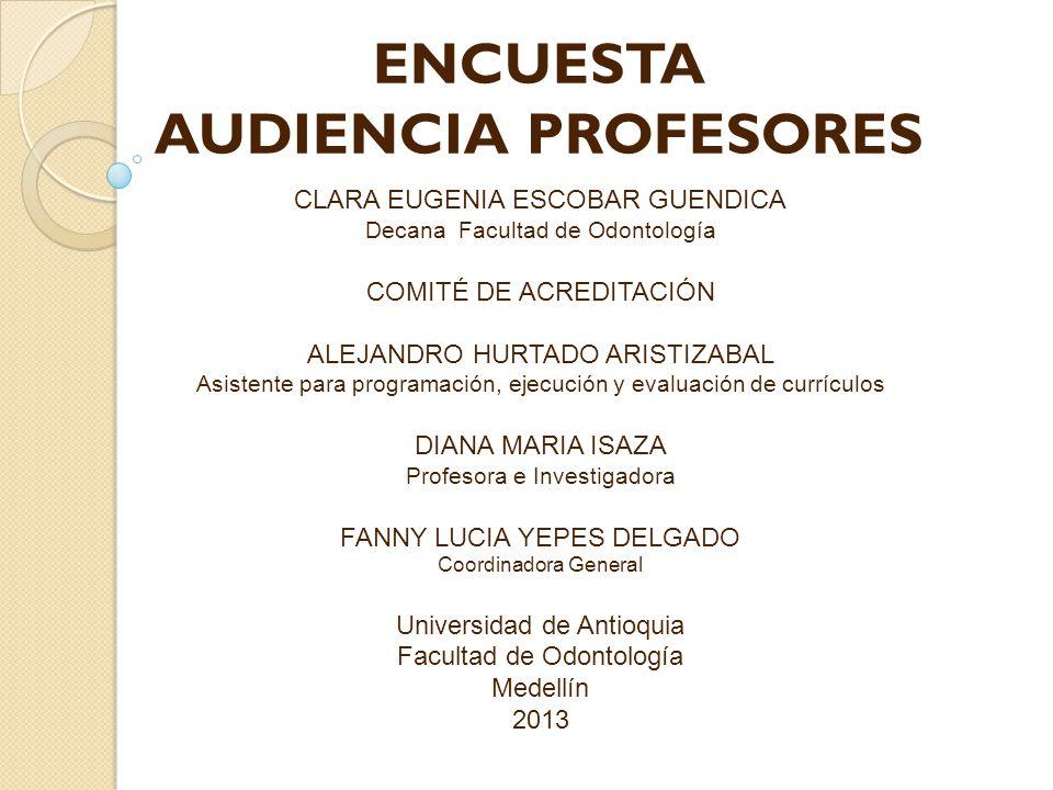 CLARA EUGENIA ESCOBAR GUENDICA Decana Facultad de Odontología COMITÉ DE ACREDITACIÓN ALEJANDRO HURTADO ARISTIZABAL Asistente para programación, ejecuc