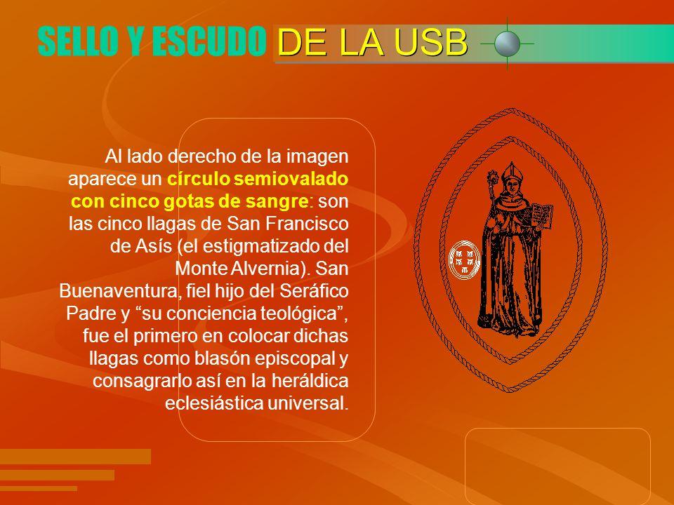 COLORES DE LA USB Los colores institucionales de la Universidad de San Buenaventura son el negro para el sello y el naranja para el rectángulo que lo enmarca; dejando una reserva de color blanco al interior del óvalo del sello.