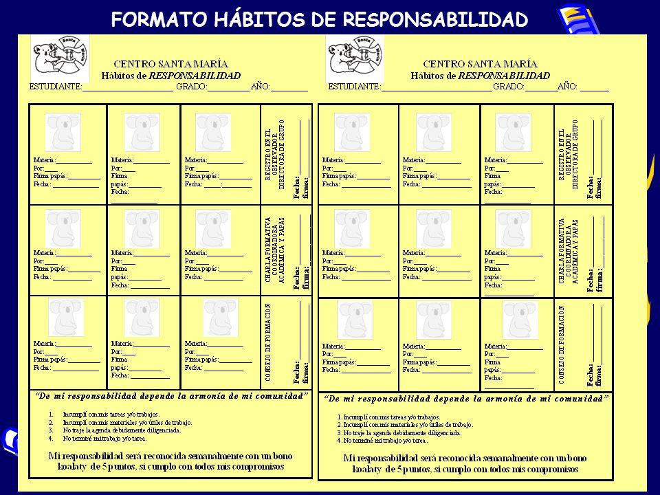 FORMATO HÁBITOS DE RESPONSABILIDAD