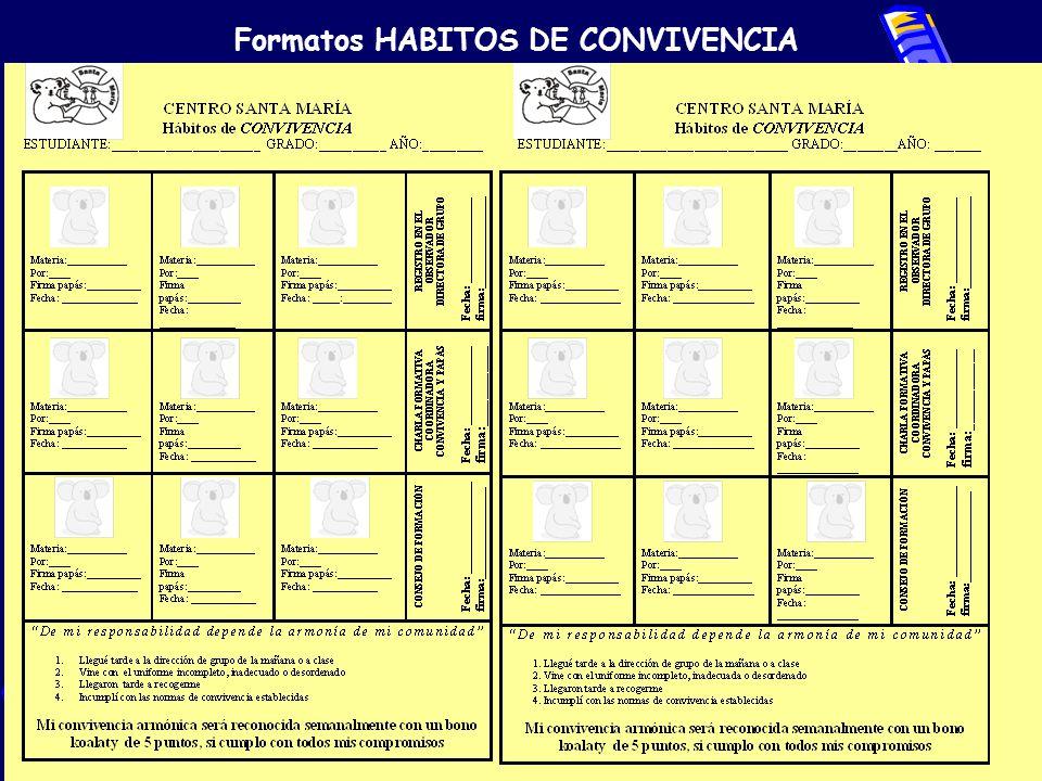 Formatos HABITOS DE CONVIVENCIA