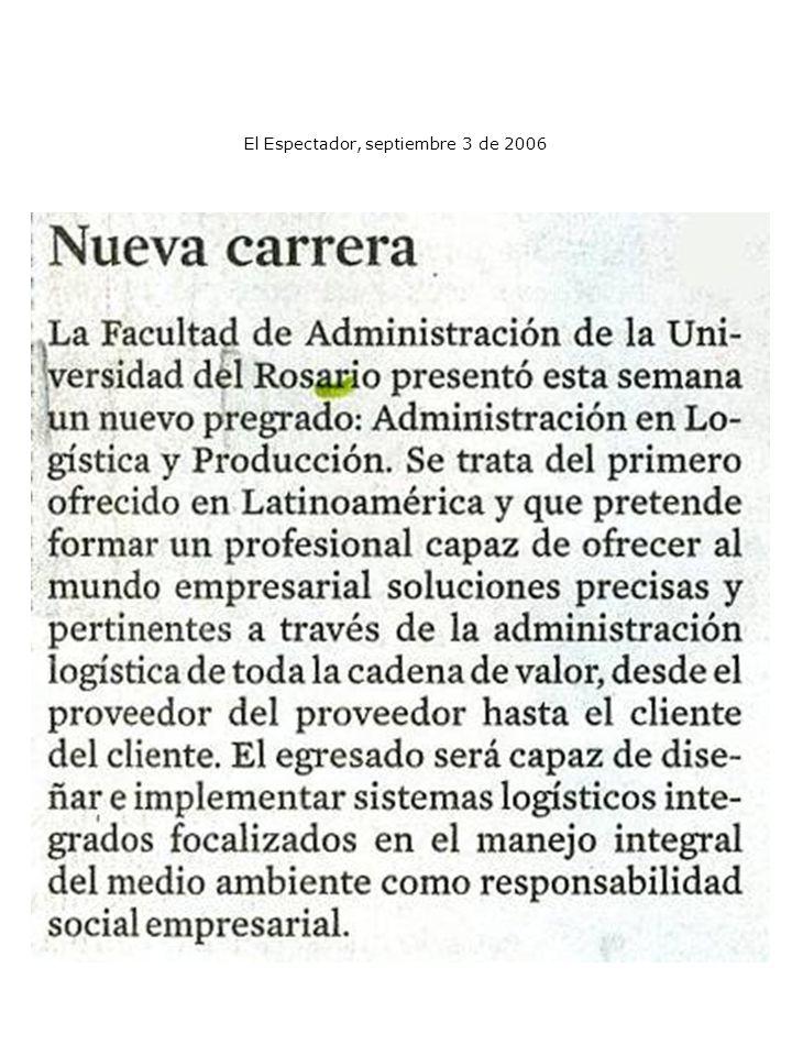 El Espectador, septiembre 3 de 2006