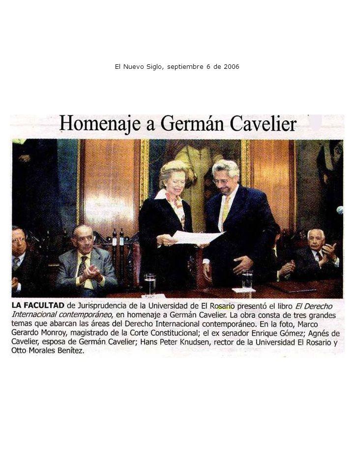 El Nuevo Siglo, septiembre 6 de 2006