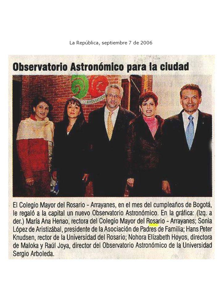 La República, septiembre 7 de 2006