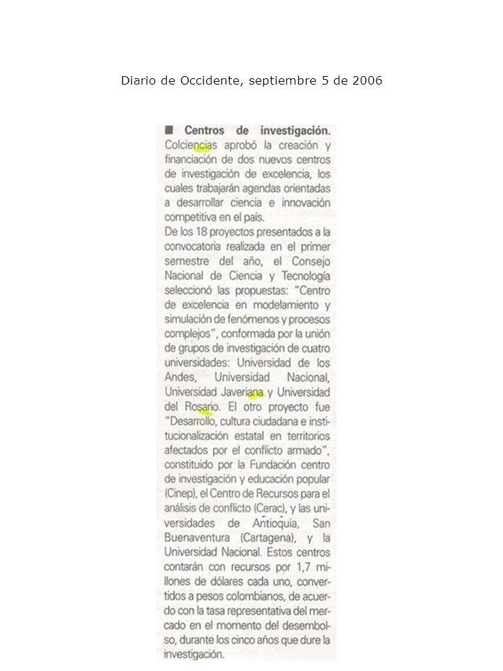 Diario de Occidente, septiembre 5 de 2006