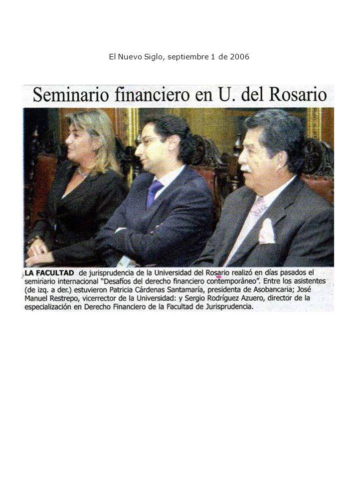 El Nuevo Siglo, septiembre 1 de 2006