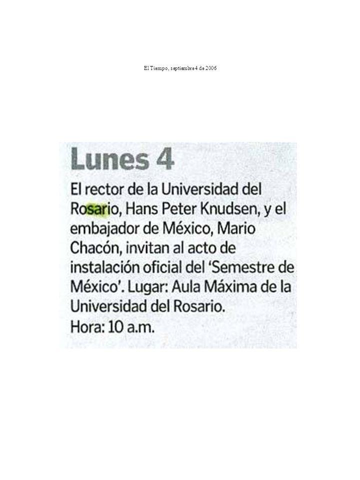 El Tiempo, septiembre 4 de 2006