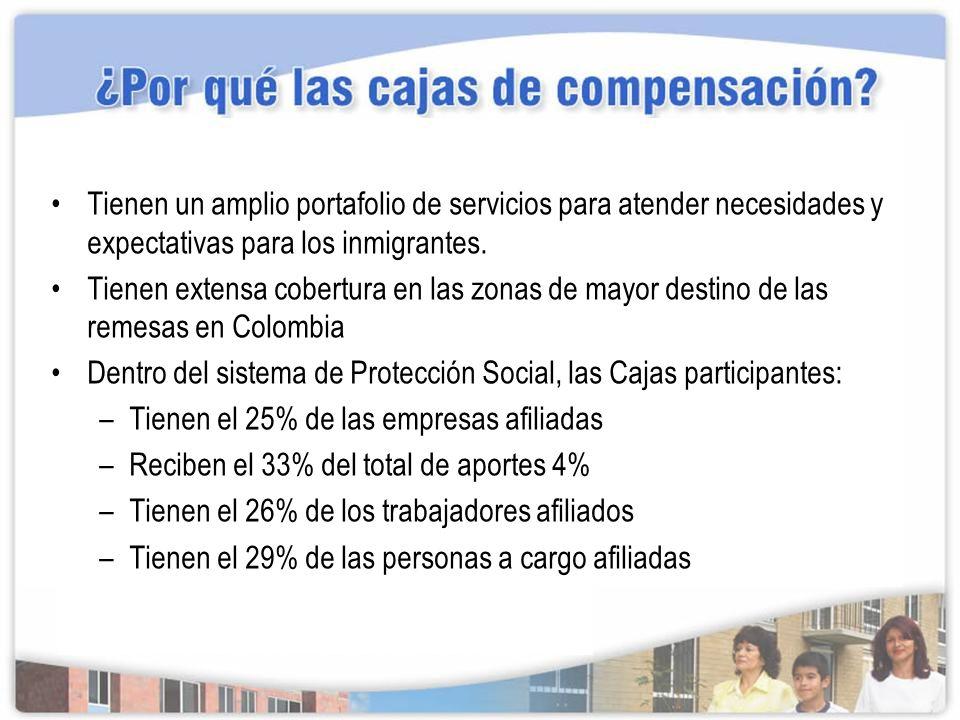 Tienen un amplio portafolio de servicios para atender necesidades y expectativas para los inmigrantes.