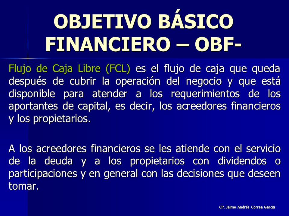 CP. Jaime Andrés Correa García Flujo de Caja Libre (FCL) es el flujo de caja que queda después de cubrir la operación del negocio y que está disponibl