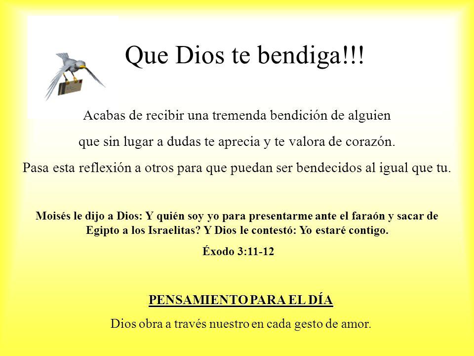 Que Dios te bendiga!!.