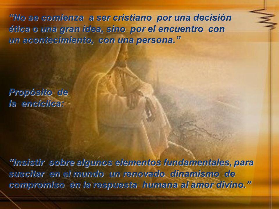 PRIMERA PARTE La unidad del amor en la creación y el la historia de la salvación.