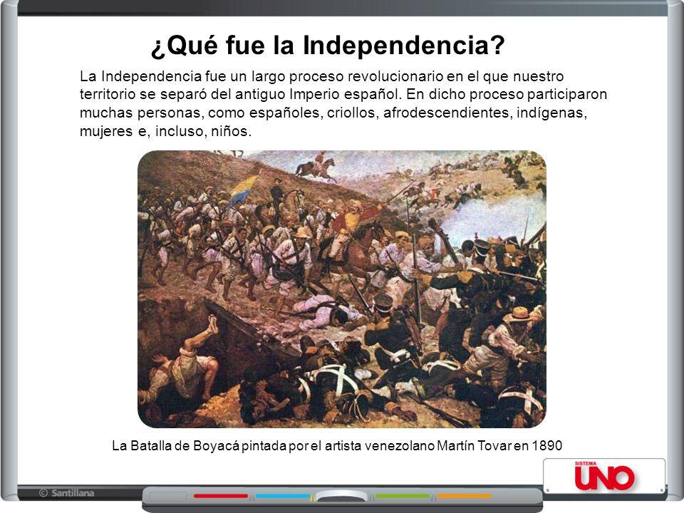 ¿Qué fue la Independencia? La Independencia fue un largo proceso revolucionario en el que nuestro territorio se separó del antiguo Imperio español. En