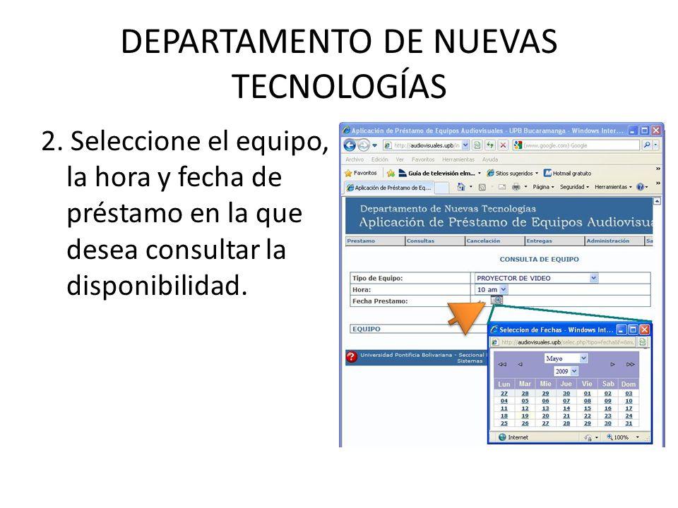 DEPARTAMENTO DE NUEVAS TECNOLOGÍAS 3.