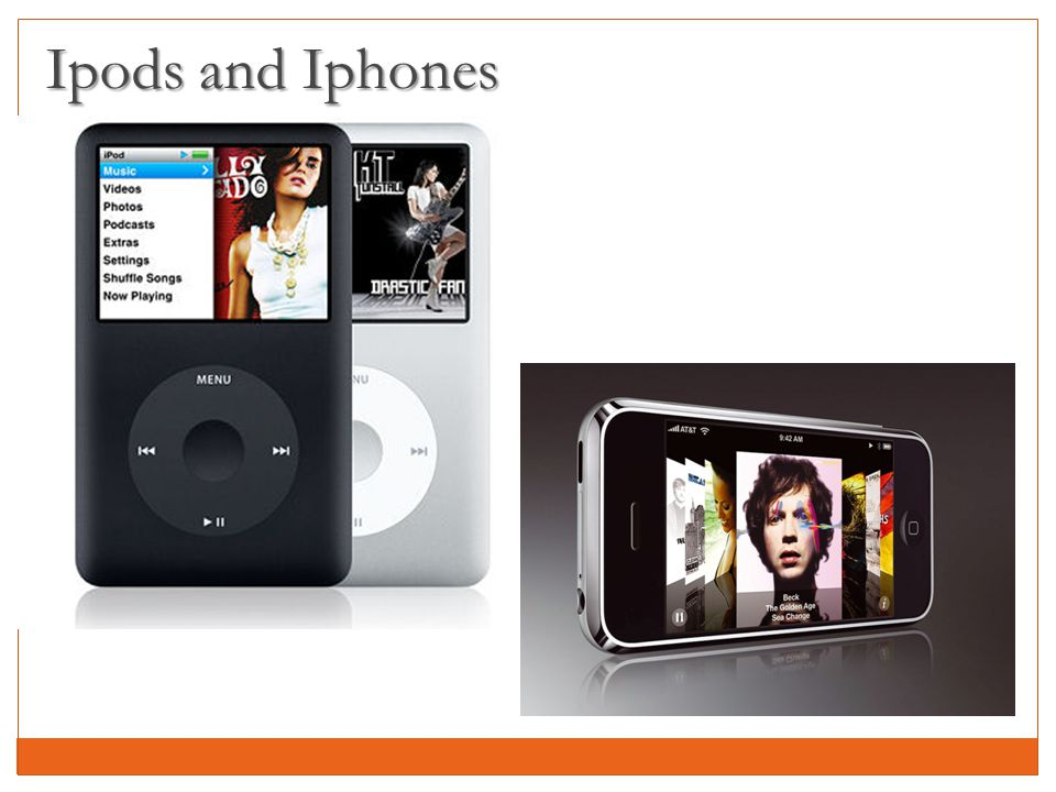 Ipods and Iphones
