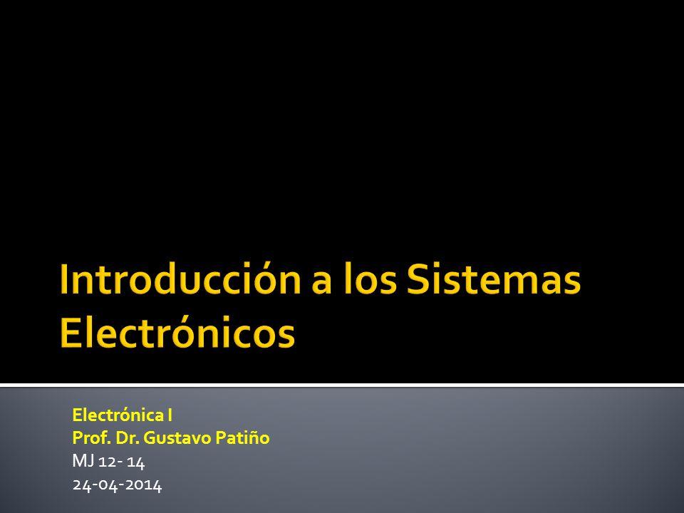Electrónica I Prof. Dr. Gustavo Patiño MJ 12- 14 24-04-2014