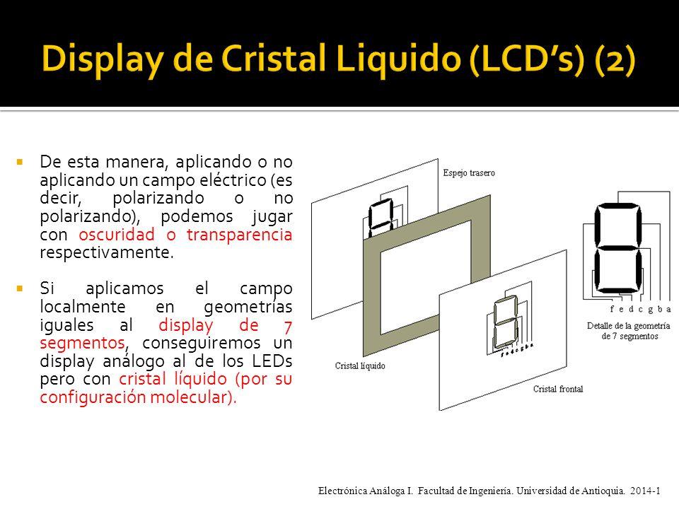 De esta manera, aplicando o no aplicando un campo eléctrico (es decir, polarizando o no polarizando), podemos jugar con oscuridad o transparencia respectivamente.