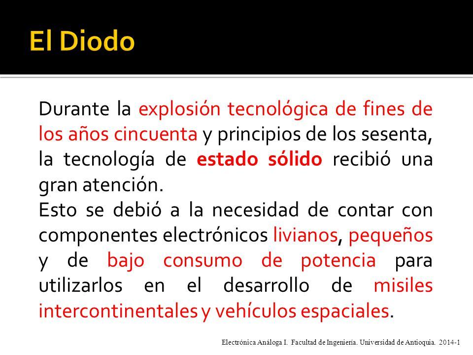 Durante la explosión tecnológica de fines de los años cincuenta y principios de los sesenta, la tecnología de estado sólido recibió una gran atención.