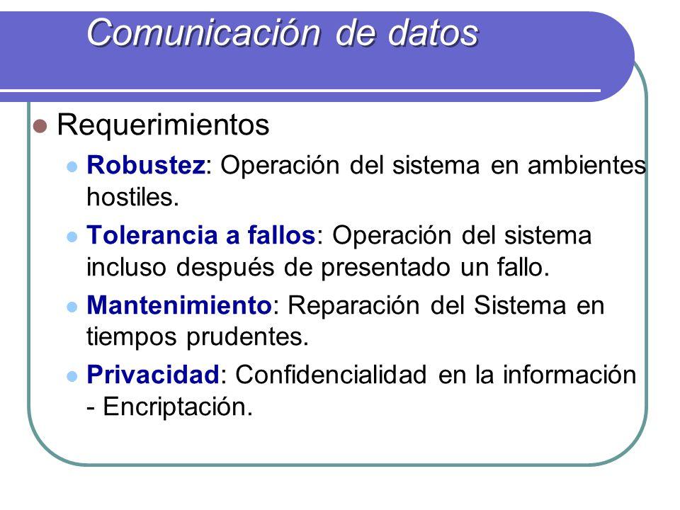 Requerimientos Robustez: Operación del sistema en ambientes hostiles. Tolerancia a fallos: Operación del sistema incluso después de presentado un fall