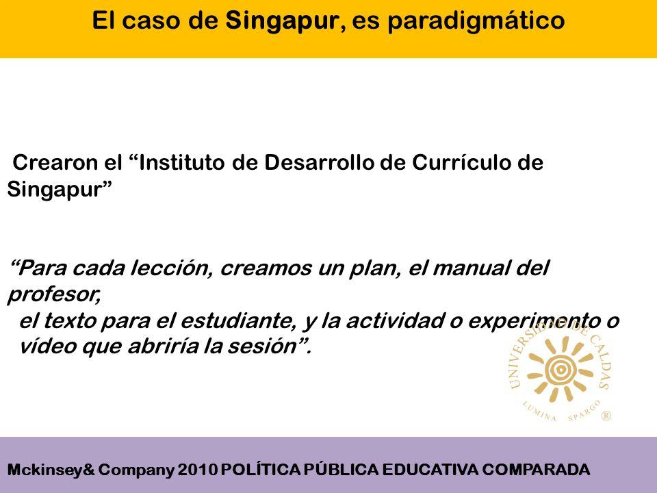 Crearon el Instituto de Desarrollo de Currículo de Singapur Para cada lección, creamos un plan, el manual del profesor, el texto para el estudiante, y