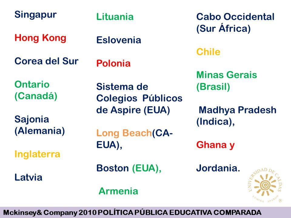 Singapur Hong Kong Corea del Sur Ontario (Canadá) Sajonia (Alemania) Inglaterra Latvia Lituania Eslovenia Polonia Sistema de Colegios Públicos de Aspi