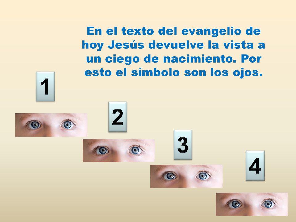 En el texto del evangelio de hoy Jesús devuelve la vista a un ciego de nacimiento.