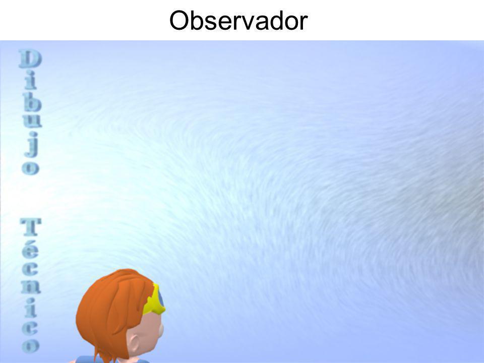 Cuerpo Plano Proyección en Perspectiva Observador