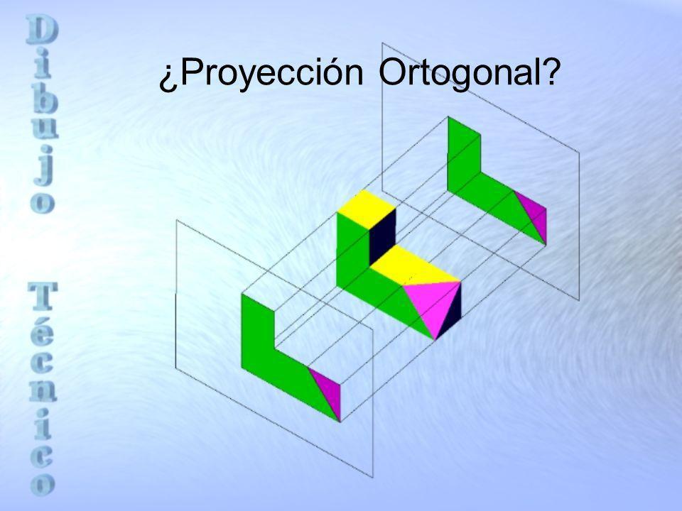 Elementos básicos en la proyección Ortogonal Observador O Plano de proyección P Cuerpo C Líneas de proyección