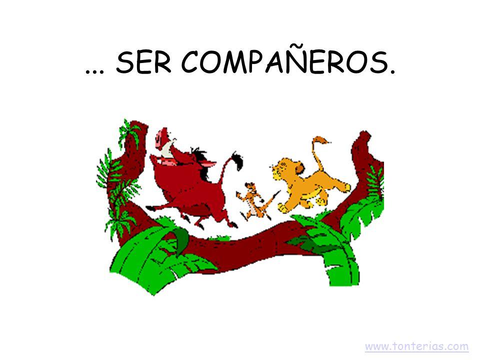 ... SER COMPAÑEROS. www.tonterias.com