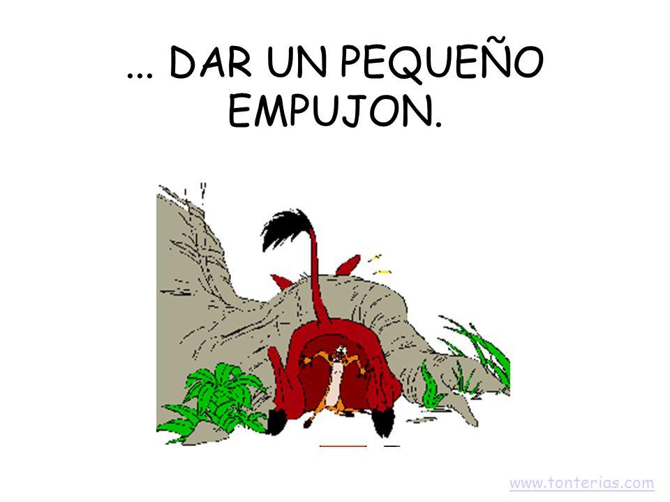 ... DAR UN PEQUEÑO EMPUJON. www.tonterias.com