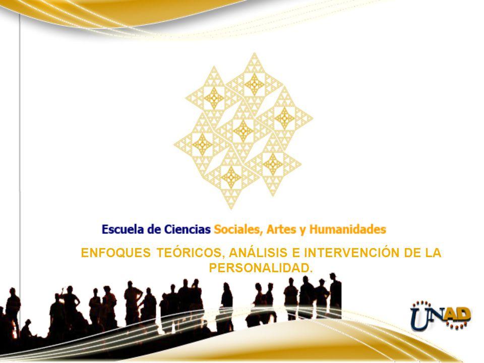 ENFOQUES TEÓRICOS, ANÁLISIS E INTERVENCIÓN DE LA PERSONALIDAD.