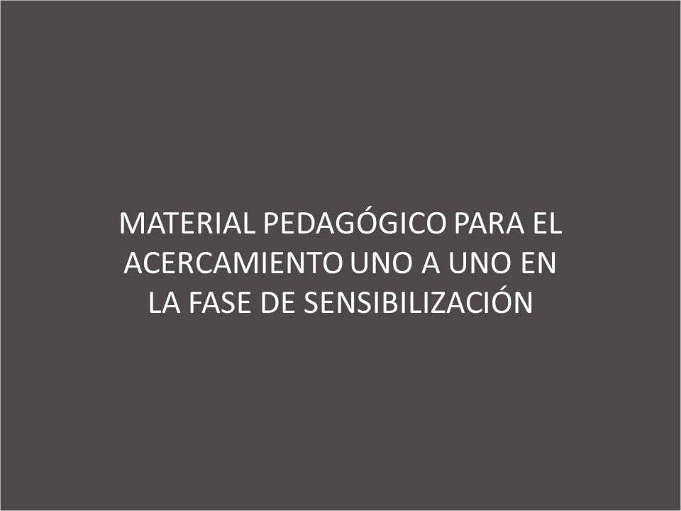MATERIAL PEDAGÓGICO PARA EL ACERCAMIENTO UNO A UNO EN LA FASE DE SENSIBILIZACIÓN