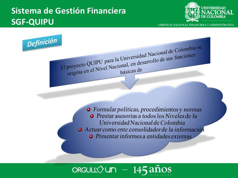 Infraestructura Cliente Servidor Sistema de Gestión Financiera SGF-QUIPU