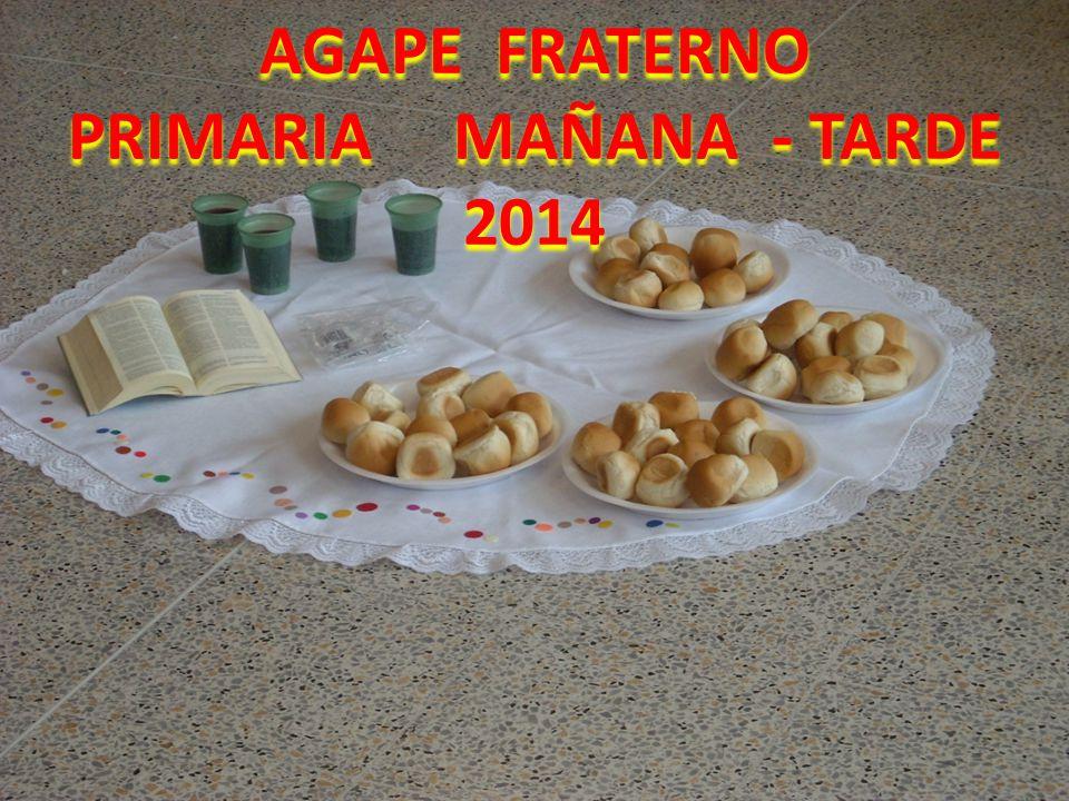 AGAPE FRATERNO PRIMARIA MAÑANA - TARDE 2014
