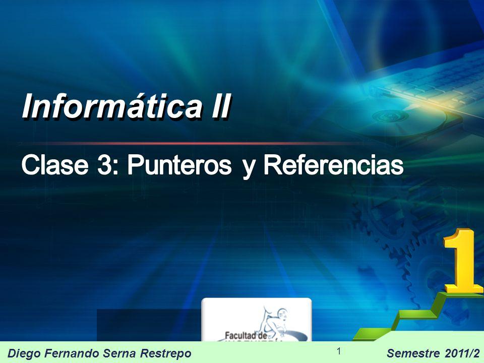 Informática II 2011/2 32 Gestión dinámica de memoria