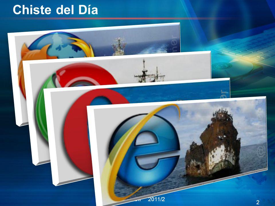 Chiste del Día Informática II 2011/2 2