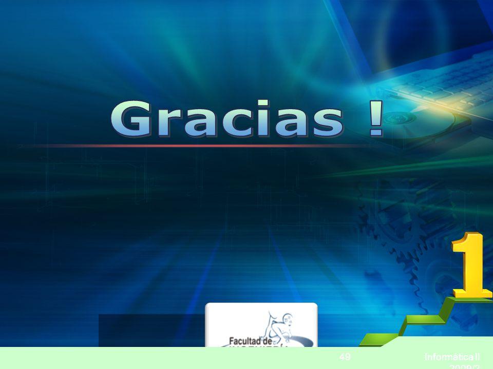 Informática II 2009/2 49