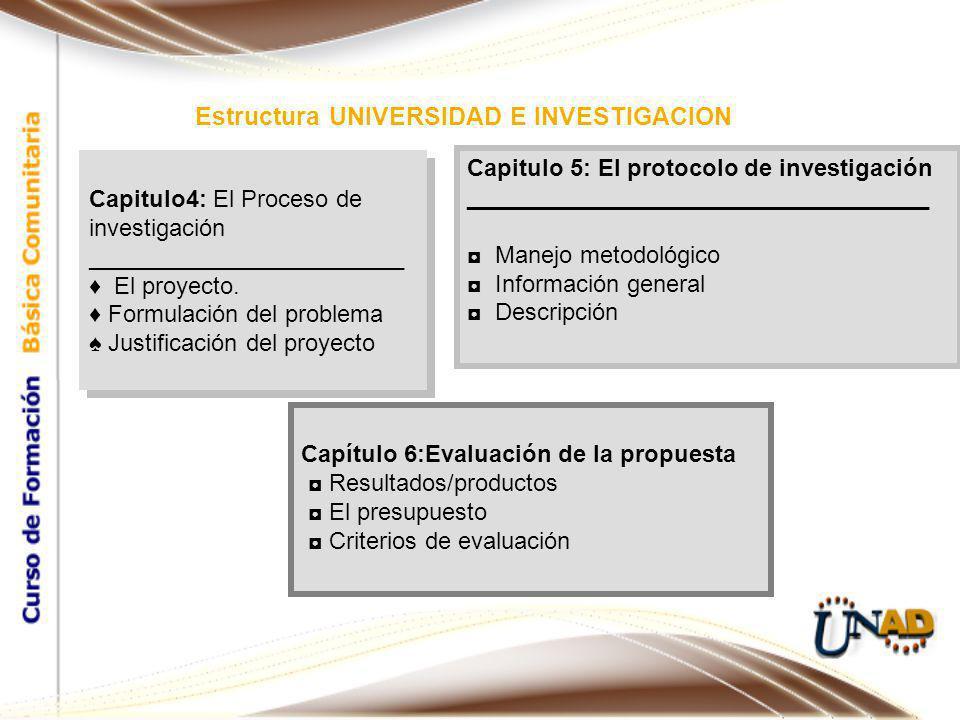 Capitulo4: El Proceso de investigación ________________________ El proyecto.
