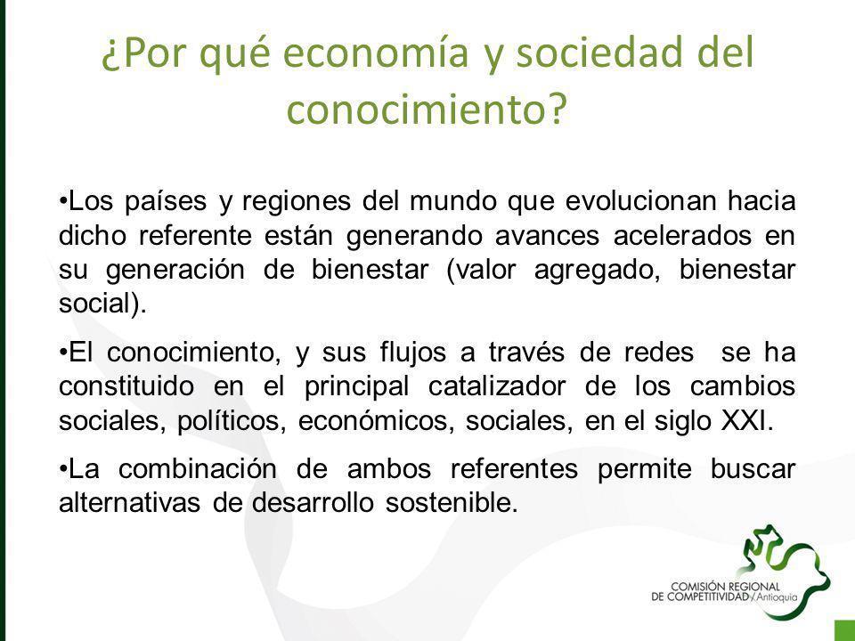 ¿Por qué economía y sociedad del conocimiento? Los países y regiones del mundo que evolucionan hacia dicho referente están generando avances acelerado